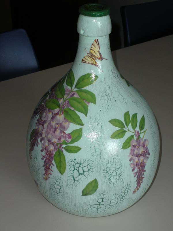 Decoupage le creazioni di sara - Damigiane decorate ...